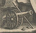 Cannon with cleaning rod - detail of Reinier van Persijn - Portret van Christian Martin Anhaltin - 1659 (cropped).jpg