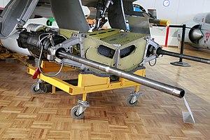 DEFA cannon - DEFA cannon of a Mirage III in twin mount