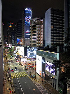 Canton Road street in Hong Kong, Peoples Republic of China