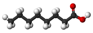 Caprylic acid - Image: Caprylic acid 3D balls
