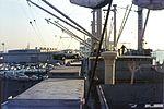 Car carrier Johann Schulte during discharge of Volkswagen in Baltimore Harbor in December 1970.jpg