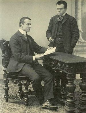 Constantin Carathéodory - Constantin Caratheodory (left) with Hungarian mathematician Lipót Fejér (1880–1959) (standing to the right).