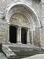 Carennac (46) Église Portail 01.jpg