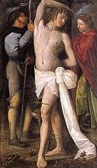 Saint Sébastien entouré de saint Roch et sainte Marguerite
