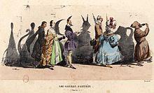 Procession de dignitaires projetant chacun une ombre cocasse