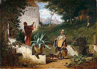 Carl Spitzweg - Jugendfreunde, c.1855
