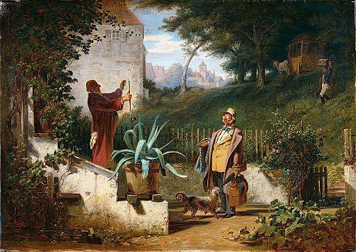 Carl Spitzweg - Jugendfreunde (ca.1855)