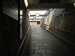 Carnforth Station Clock and station approach.jpg