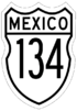 Federal Highway 134 shield