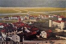 Dipinto del castello Torre Franca