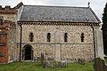 Castle Hedingham - St Nicholas' Church, Essex England, chancel from the south.jpg