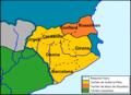 Catalonha - Territòris de Guifré lo Pilós e de Miron de Rossilhon (fin dau sègle IX).png
