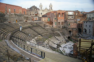 Debate chamber - Image: Catania Greek Roman theater
