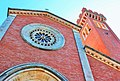 Cattedrale ,vista campanile con rosone.JPG