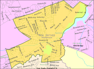 Spotswood, New Jersey - Image: Census Bureau map of Spotswood, New Jersey