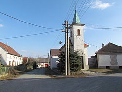 Center of Číměř, Třebíč District.JPG