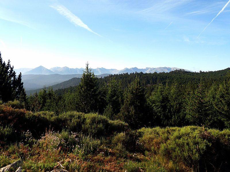 Vue des sommets de Cerdagne