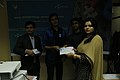 Certificate given in Bangla Wikipedia Editors' Assembly at CIU (08).jpg