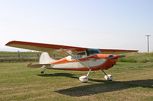 Cessna 170 - Image: Cessna 170B orange
