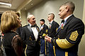 Chairman of the Joint Chiefs of Staff U.S. Army Gen. Martin E. Dempsey, second from left, speaks with Sgt. Maj. of the Army Raymond Chandler III, right, and his wife in the holding room before the start of 130121-A-TT930-019.jpg