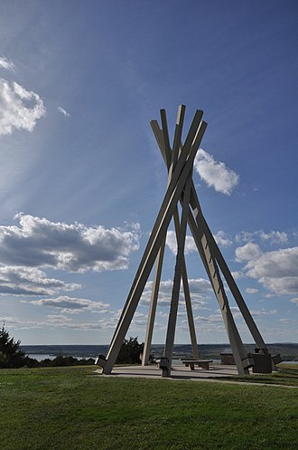 National Register of Historic Places listings in Brule County, South Dakota - Image: Chamberlain SD Rest Area Tipi