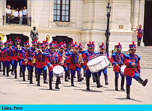 Changing the guard, Lima, Peru
