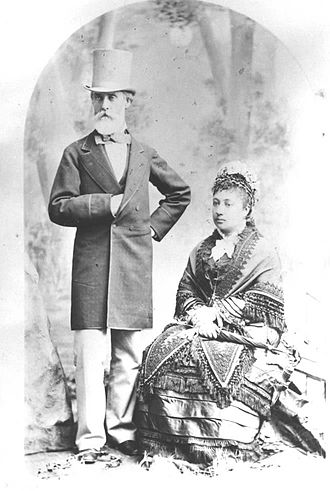 Ford Island - Charles Reed Bishop with his wife, Bernice Pauahi Bishop