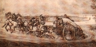 Chasse-marée (cart) - An 18th or 19th century lithograph