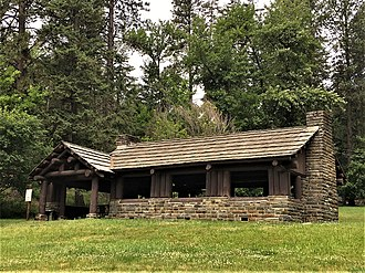 National Register of Historic Places listings in Benewah County, Idaho - Image: Chatcolet CCC Picnic & Camping Area NRHP 94000632 Benewah County, ID