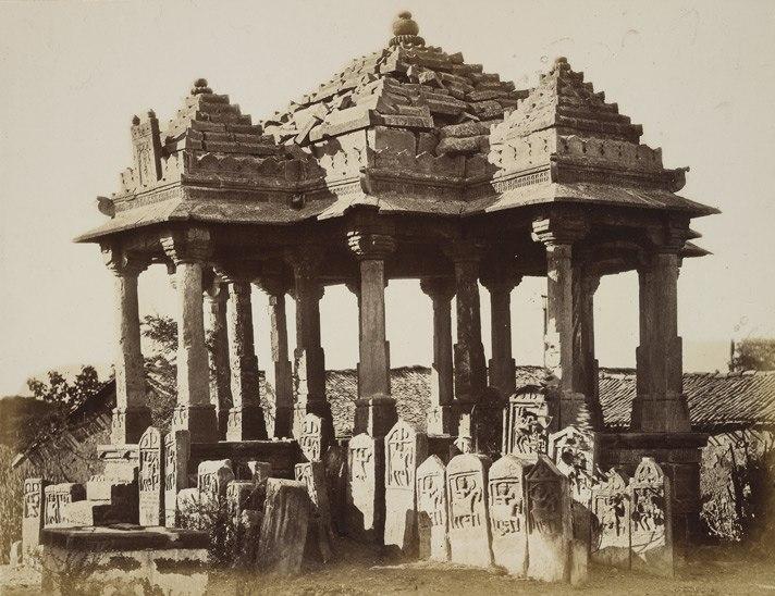 Chattri and Paliyas, Than, Kathiawar, Gujarat, India