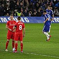 Chelsea 1 lLiverpool 0 (2-1 agg) Capital One Cup semi final 2nd leg On our way to Wembley! (16204885707).jpg