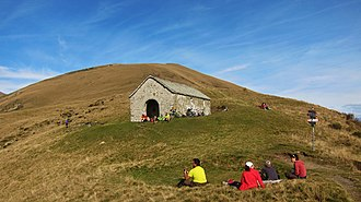 Mammes of Caesarea - The chapel of Sant'Amate on the mountain Monte Grona in Plesio municipality, nearby Como