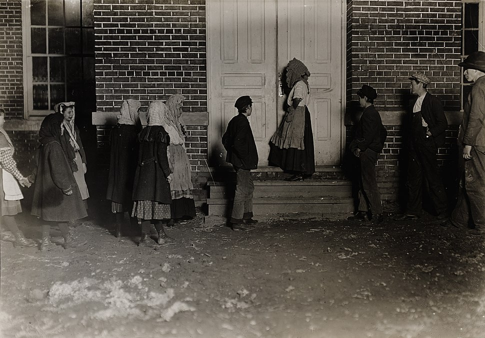 Child Labor in United States 1908, 12 hour night shifts