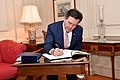 Chilean FM Ampuero Espinoza Signs the State Department Guest Book (41318236504).jpg