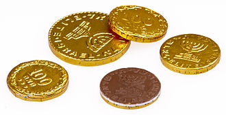 Hanukkah gelt - Chocolate coins by Elite