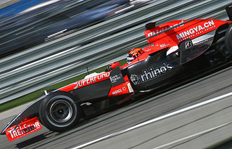 Christijan Albers - Albers driving the Midland M16 during the 2006 United States Grand Prix.