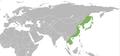 Chrysochroa fulgidissima distribution map.png
