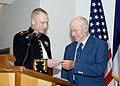 Chuck Yeager receives coin.jpg