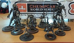ChumpCar - Trophies awarded to podium finishers at the 2011 National Chumpionship.