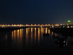 Chương Dương Bridge - Chương Dương Bridge at night