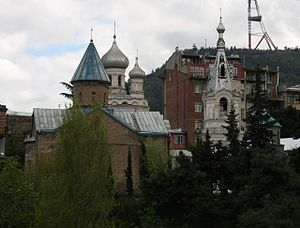 Churches of St. Andrew and of John the Apostle, Tbilisi (Photo A. Muhranoff, 2011).jpg