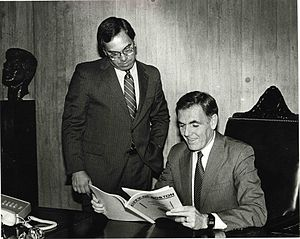 Thomas Menino - Menino with Mayor Raymond Flynn during Menino's tenure as a City Councilor