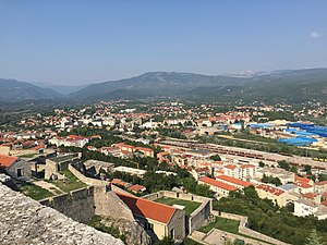 Knin - A view of Knin from Knin Fortress