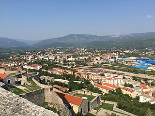 A view of Knin from Knin Fortress