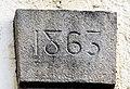 Clé de linteau datée de 1863. Andornay.jpg