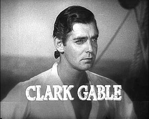 Cropped screenshot of Clark Gable from the tra...