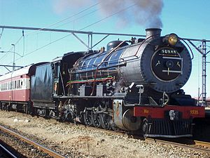South African Class 12A 4-8-2 - Class 12AR no. 1535 at Maraisburg, 27 April 2009
