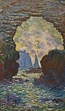 Claude Monet - L'aiguille d'Étretat vue à travers la porte d'Amont.jpg
