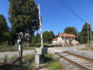 Level crossing No.  44 at the former Claveisolles stop, 2018