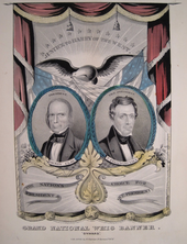 Political poster showing two men, Clay and Frelinghuysen